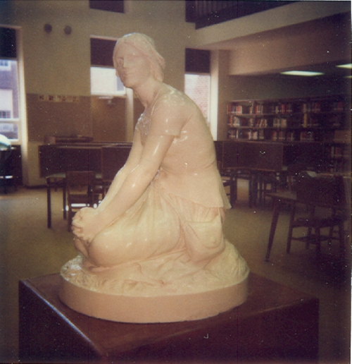 Joan of Arc in the library to protect her.